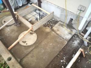 画像4(コンクリート打ちの型枠設置)