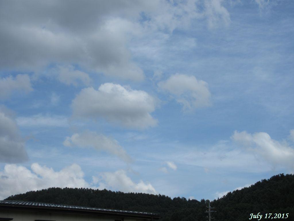 画像1(台風11号の後の青空)