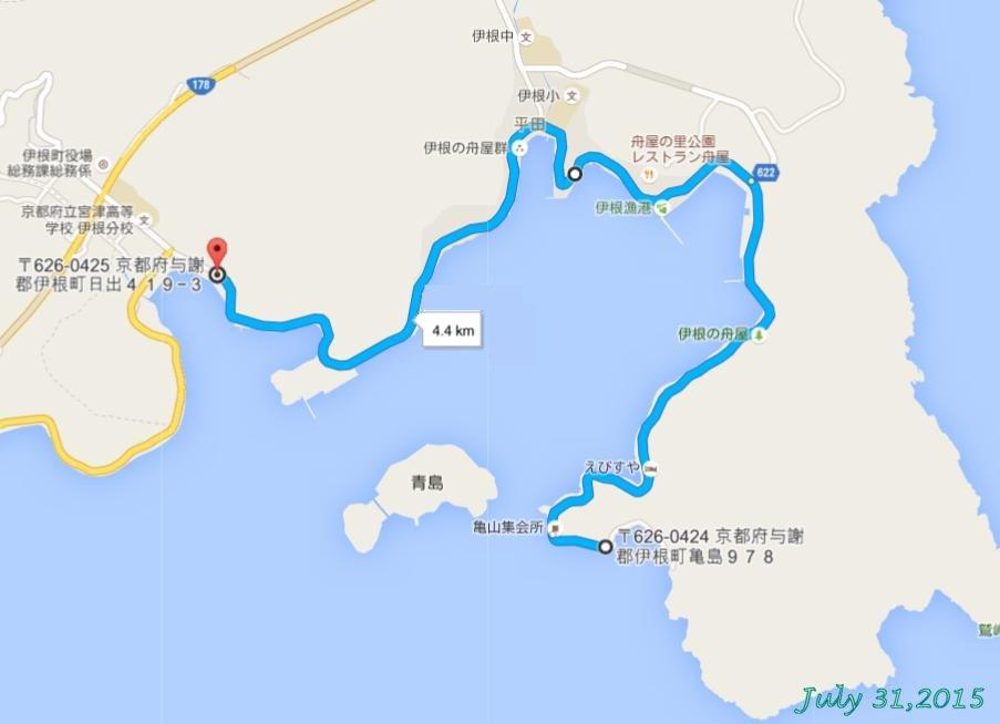 画像3(伊根コース地図)