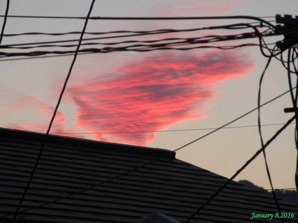 画像2(夕焼けの雲)