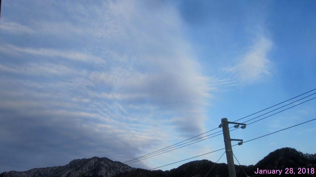 画像2(今朝の西の空)