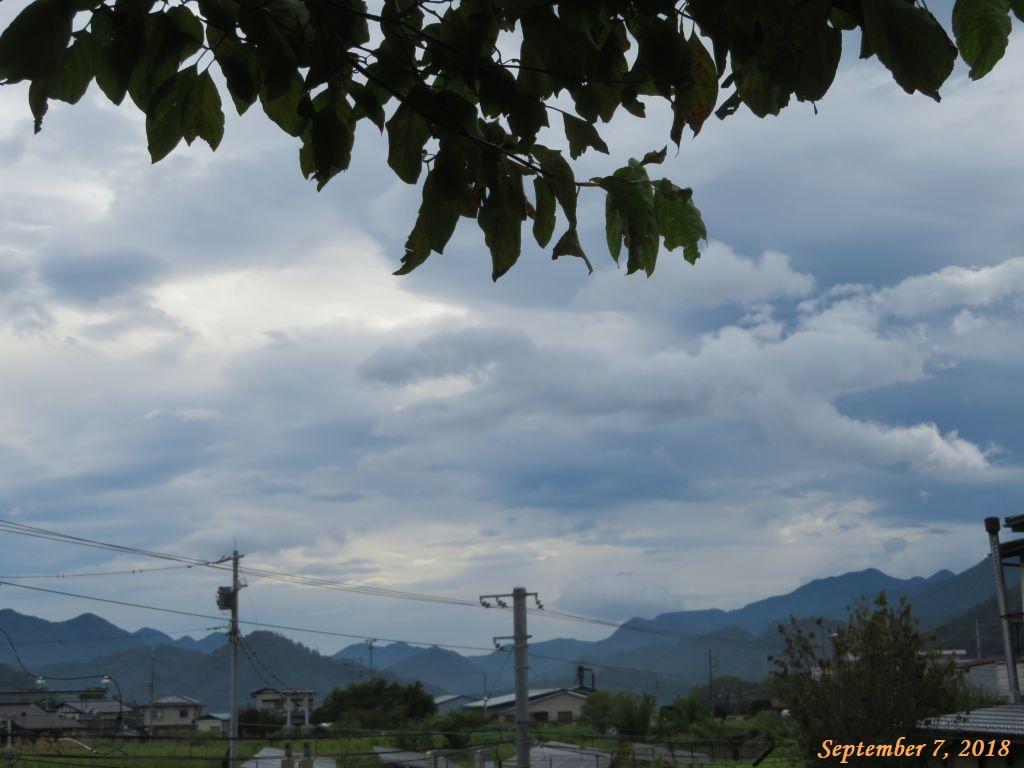 画像3(今朝の東の空)