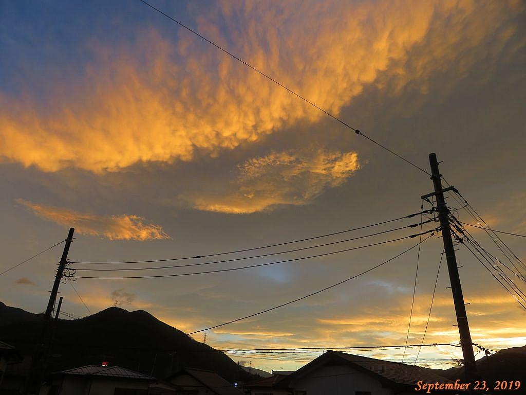 画像2(夕焼け雲)