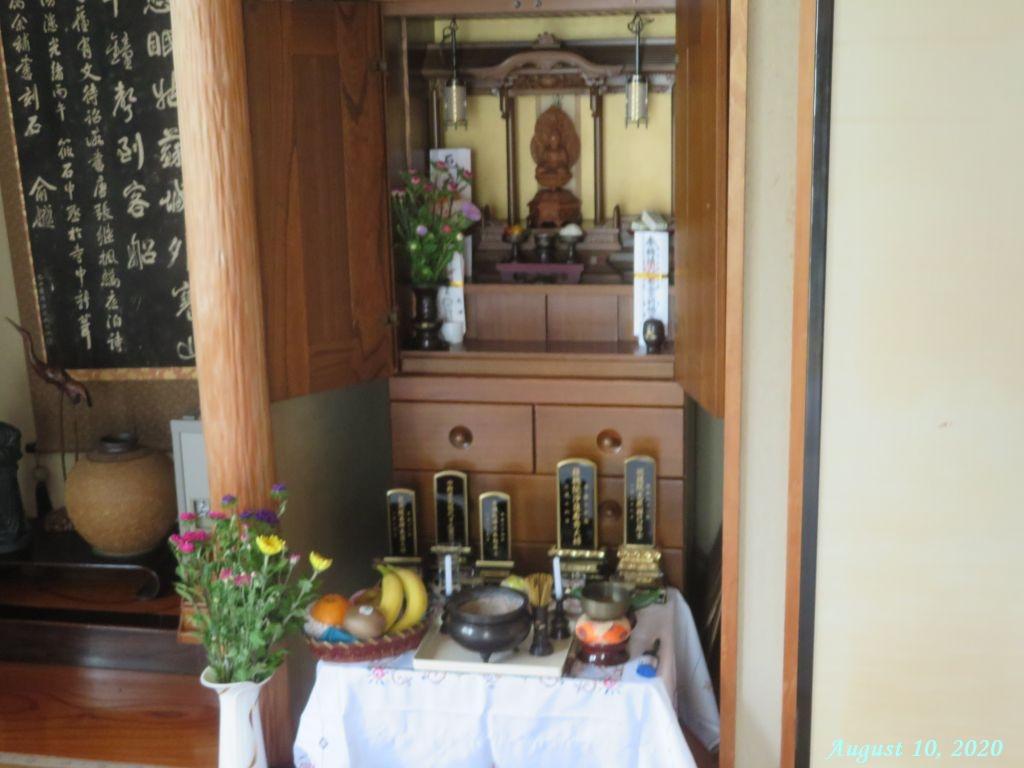 画像6(お盆の仏壇)