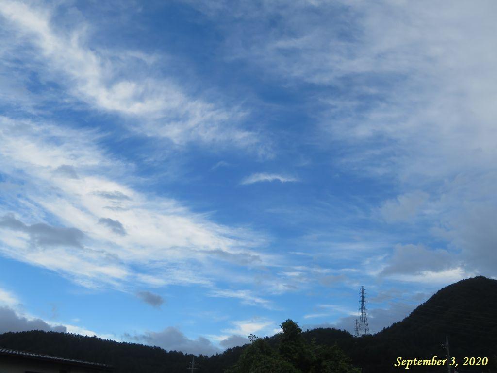 画像1(夕方の東の空)