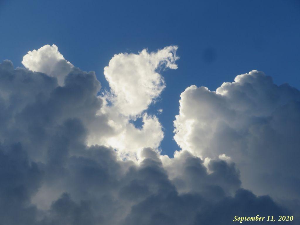 画像1(夕方の雲)