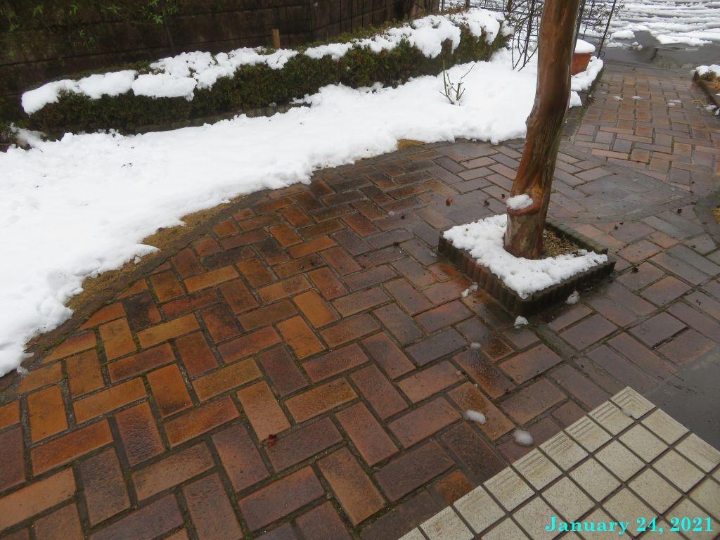 画像9(玄関前の雪かき)